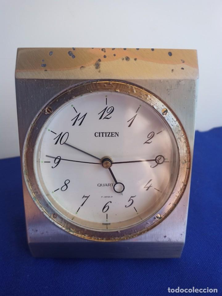 RELOJ DE MESA DE LA MARCA CITIZEN, VINTAGE, AÑOS 70-1980,CON ALARMA (Relojes - Relojes Despertadores)