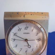 Despertadores antiguos: RELOJ DE MESA DE LA MARCA CITIZEN, VINTAGE, AÑOS 70-1980,CON ALARMA. Lote 275782913