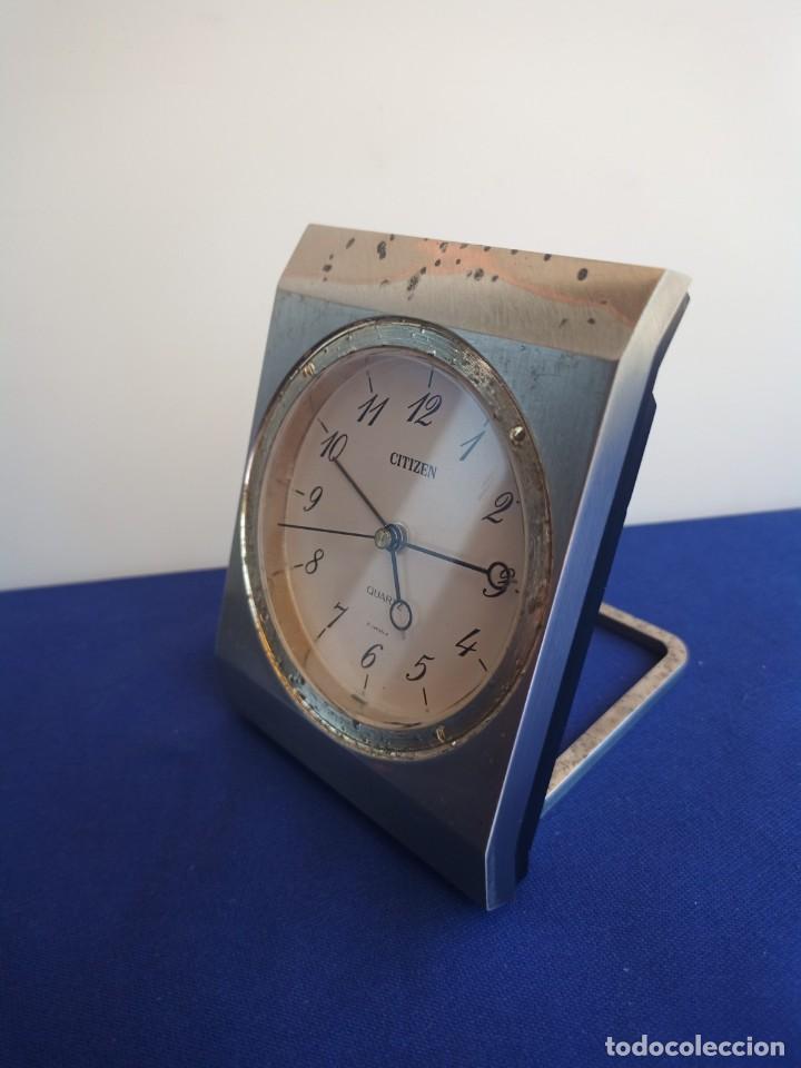 Despertadores antiguos: Reloj de mesa de la marca Citizen, vintage, años 70-1980,con alarma - Foto 5 - 275782913