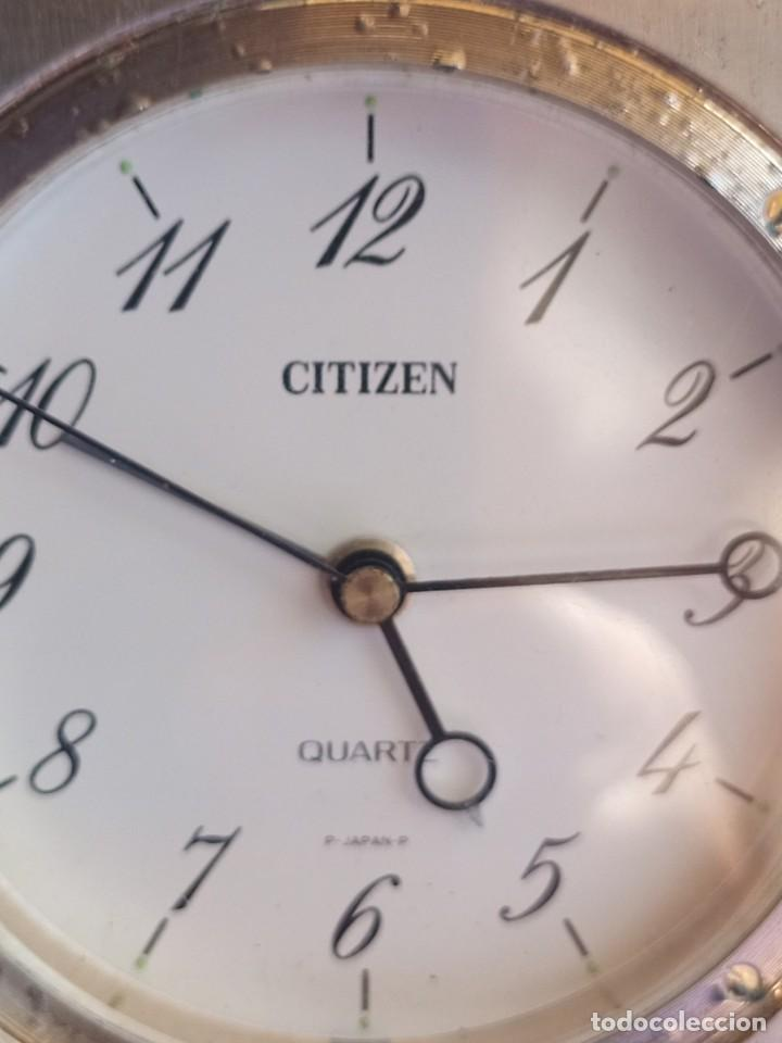 Despertadores antiguos: Reloj de mesa de la marca Citizen, vintage, años 70-1980,con alarma - Foto 6 - 275782913