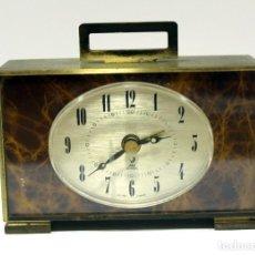 Despertadores antiguos: RELOJ DESPERTADOR JAZ ELECTRONIC ANTIGUO Y MUY RARO. FRANCIA. MUY BONITO. FUNCIONANDO.. Lote 276493588