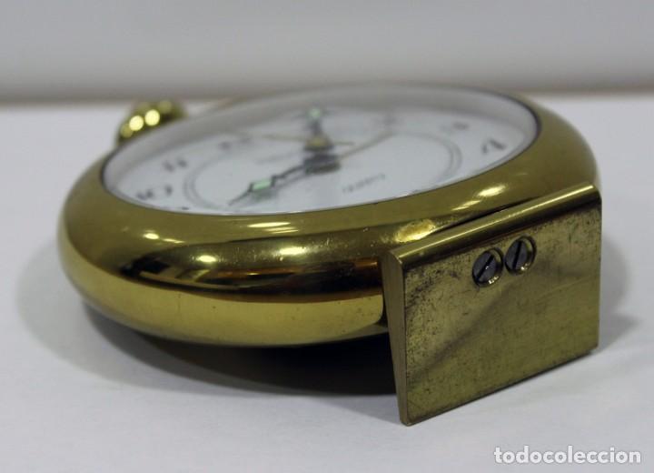 Despertadores antiguos: Reloj despertador EUROPA QUARTZ. BRONCE. GERMANY. RARO. FUNCIONANDO. - Foto 8 - 276620188