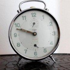 Despertadores antiguos: RELOJ DESPERTADOR DE CUERDA TITAN RUBÍ FABRICADO EN ESPAÑA MUY BUEN ESTADO. Lote 276992208