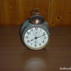 Despertadores antigos: ANTIGUO RELOJ DESPERTADOR DE LATON Y COBRE.. Lote 277650928