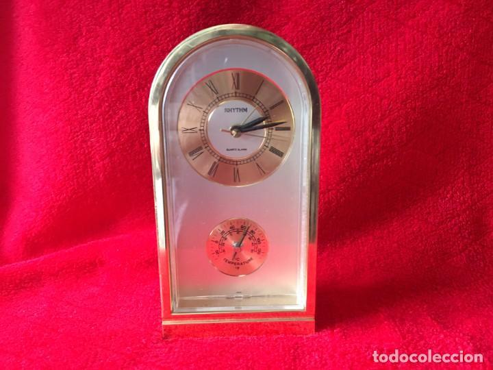 RELOJ RHYTHM QUARTZ ALARM TERMOMETRO (Relojes - Relojes Despertadores)