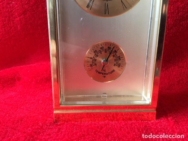 Despertadores antiguos: RELOJ RHYTHM QUARTZ ALARM TERMOMETRO - Foto 3 - 278689618