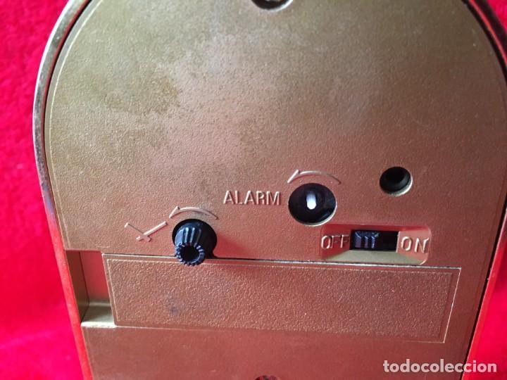 Despertadores antiguos: RELOJ RHYTHM QUARTZ ALARM TERMOMETRO - Foto 5 - 278689618