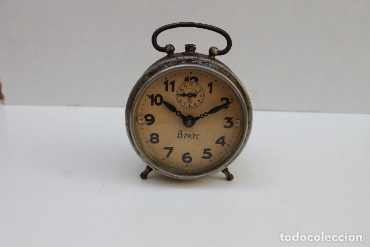Despertadores antiguos: ANTIGUO DESPERTADOR BOXER - FUNCIONA. - Foto 4 - 278804873