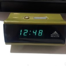 Despertadores antiguos: RELOJ DESPERTADOR DIGITAL LED AÑOS 70 - 80 MEISTER ANKER FUNCIONANDO. Lote 280516018