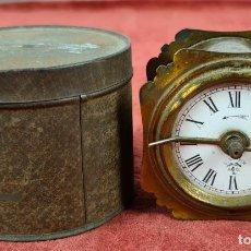 Despertadores antigos: RELOJ DESPERTADOR. LENZKIRCH AGU. ALEMANIA. CAJA ORIGINAL. 1901.. Lote 284230498