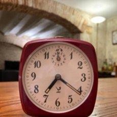 Despertadores antiguos: ANTIGUO RELOJ VINTAGE DESPERTADOR MECÁNICO FRANCÈS, MARCA JAZ, EN BUEN ESTADO Y EN FUNCIONAMIENTO. Lote 285156993