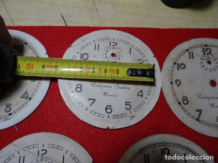 Despertadores antiguos: Lote 5 esferas despertador. Mieres.Moreda. Cid - Foto 2 - 285187558