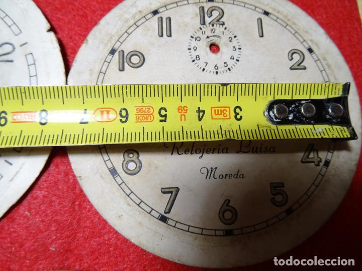 Despertadores antiguos: Lote 5 esferas despertador. Mieres.Moreda. Cid - Foto 3 - 285187558