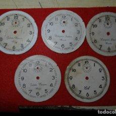 Despertadores antiguos: LOTE 5 ESFERAS DESPERTADOR. MIERES.MOREDA. CID. Lote 285187558