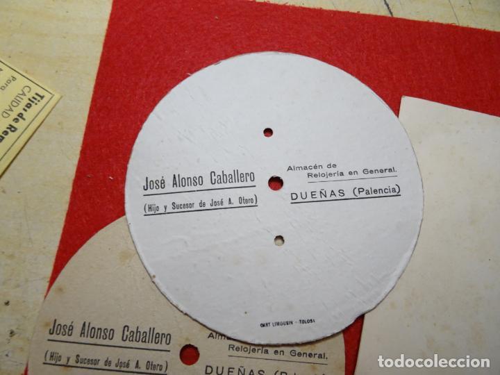 Despertadores antiguos: Lote 5 esferas carton despertador. Jaz. Jose Alonso. Dueñas. Palencia - Foto 6 - 285187898