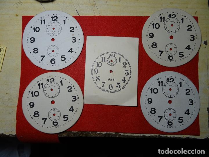 LOTE 5 ESFERAS CARTON DESPERTADOR. JAZ. JOSE ALONSO. DUEÑAS. PALENCIA (Relojes - Relojes Despertadores)