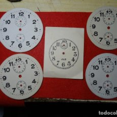 Despertadores antiguos: LOTE 5 ESFERAS CARTON DESPERTADOR. JAZ. JOSE ALONSO. DUEÑAS. PALENCIA. Lote 285187898