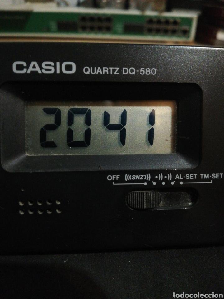 Despertadores antiguos: RELOJ DESPERTADOR CASIO DQ-580 10x6x6 - Foto 5 - 287787703