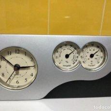 Despertadores antiguos: RELOJ DESPERTADOR , MEDIDOR DE TEMPERATURA Y HUMEDAD. Lote 288114598