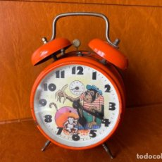 Despertadores antiguos: ANTIGUO Y CURIOSO RELOJ DESPERTADOR CON ANIMACIÓN. Lote 288130883