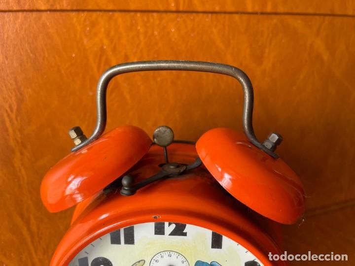 Despertadores antiguos: ANTIGUO Y CURIOSO RELOJ DESPERTADOR CON ANIMACIÓN - Foto 3 - 288130883