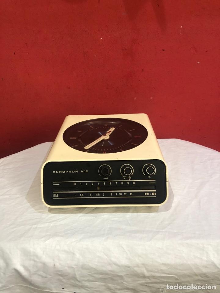 RADIO RELOJ POP EUROPHON H10 SOBREMESA O PARED - ITALIA AÑOS 60 - SPACE AGE (Relojes - Relojes Despertadores)