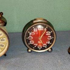 Despertadores antigos: 3 RELOJES DESPERTADORES ANTIGUOS MARCAS JAZ MICRO EUROPA OCASION. Lote 289553973