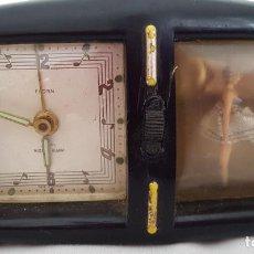Despertadores antiguos: RELOJ DESPERTADOR CON CAJA DE MUSICA Y BAILARINA FLORN. Lote 290115683