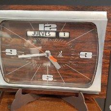 Despertadores antigos: RELOJ VINTAGE JAZ ELECTRONIC FUNCIONA MADE IN FRANCE. Lote 293437553