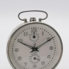 Despertadores antiguos: RELOJ DESPERTADOR MECÁNICO A CUERDA JAZ.. Lote 294365878