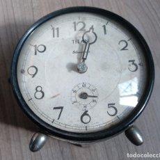Despertadores antiguos: RELOJERIA, ANTIGUO RELOJ DESPERTADOR TITAN PARA PIEZAS. Lote 294839943