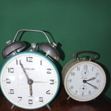 Despertadores antiguos: DOS ANTIGUOS RELOJES DESPERTADORES, EXCELLENT Y MAUTHE. Lote 294862313