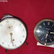 Despertadores antiguos: DOS ANTIGUOS RELOJES DESPERTADORES, JUNGHAS Y BABY BEN. Lote 294865353