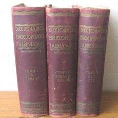Diccionarios antiguos: 3 TOMOS DICCIONARIO ENCICLOPÉDICO ABREVIADO ....ESPASA CALPE MADRID 1935. Lote 27481118