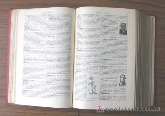 Diccionarios antiguos: 3 tomos DICCIONARIO ENCICLOPÉDICO ABREVIADO ....Espasa Calpe Madrid 1935 - Foto 7 - 27481118