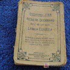 Diccionarios antiguos: PEQUEÑO DICCIONARIO DE LA LENGUA ESPAÑOLA 1933. Lote 27579690