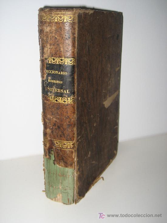 AÑO 1862.- DICCIONARIO BIOGRAFICO DE PERSONAJES CELEBRES. JUAN SALA (Libros Antiguos, Raros y Curiosos - Diccionarios)