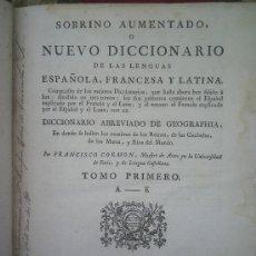 Diccionarios antiguos: DICCIONARIO DE LAS LENGUAS ESPAÑOLA,FRANCESA Y LATINA DEL AÑO 1769 . Lote 27432329