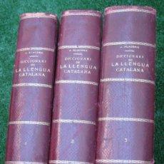 Diccionarios antiguos: 1906. DICCIONARI LLENGUA CATALANA: CATALUNYA, ANDORRA, MALLORCA, VALENCIA ROSSELLÓ, SARDENYA......... Lote 27162967