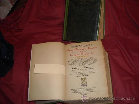 ENCICLOPEDIA SOPENA. NUEVO DICCIONARIO ILUSTRADO. 1935. 2 TOMOS. ARGENTINA VER FOTOS ADICIONALES (Libros Antiguos, Raros y Curiosos - Diccionarios)