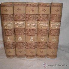Diccionarios antiguos: 1644- NOVISIMO DICCIONARIO ENCICLOPEDICO ILUSTRADO DE LA LENGUA CASTELLANA. EDIT HYMSA. 5 TOMOS.. Lote 17335475