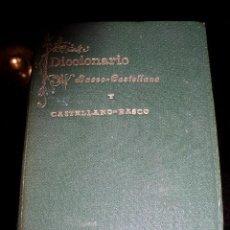 Diccionarios antiguos: RARÍSIMO DICCIONARIO VASCO-ESPAÑOL ESPAÑOL-VASCO DE 1902. Lote 27384611