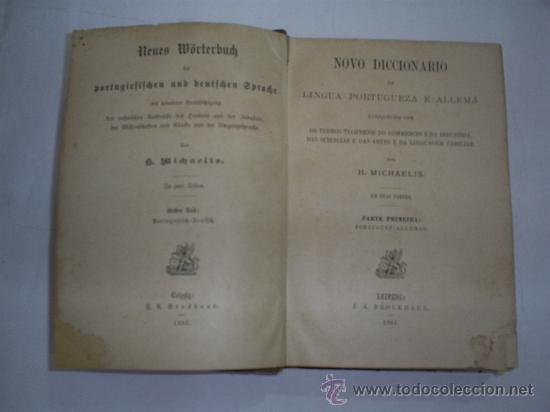 Diccionarios antiguos: Novo Diccionario la Lingua Portugueza e Allemá Parte Primeira Portuguez-Allemao 1887 RM40823 - Foto 2 - 26165934