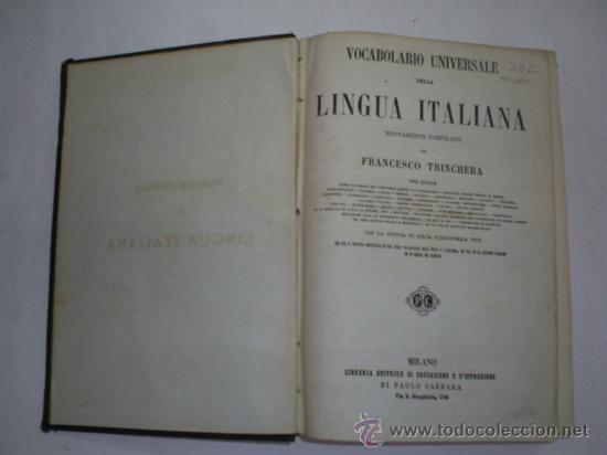 Diccionarios antiguos: Vocabolario Universale della Lingua Italiana nuovamente compilado c. 1890 RM40821 - Foto 3 - 26165935