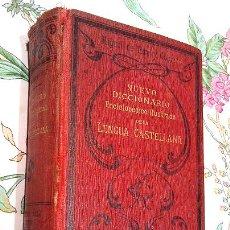 Diccionarios antiguos: LIBRO ANTIGUO DE 1899, NUEVO DICIONARIO ENCICLOPÉDICO ILUSTRADO DE LA LENGUA CASTELLANA, M.T.G.. Lote 26018548