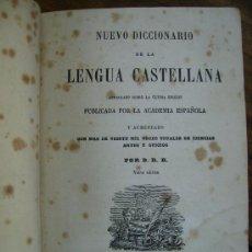 Diccionarios antiguos: NUEVO DICCIONARIO DE LALENGUA CASTELLANA 1859 1018 PGS MAGNIFICO. Lote 27414144