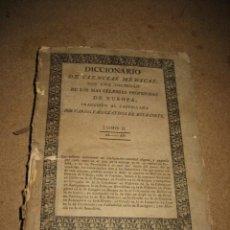 Diccionarios antiguos: DICCIONARIO DE CIENCIAS MEDICAS POR UNA SOCIEDAD DE LOS MAS CELEBRES PROFESORES DE EUROPA TOMOII.182. Lote 24918372