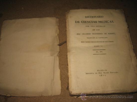 Diccionarios antiguos: DICCIONARIO DE CIENCIAS MEDICAS POR UNA SOCIEDAD DE LOS MAS CELEBRES PROFESORES DE EUROPA TOMOII.182 - Foto 3 - 24918372
