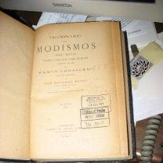 Diccionarios antiguos: DICCIONARIO DE MODISMOS. (FRASES Y METÁFORAS). RAMÓN CABALLERO. . Lote 26578327