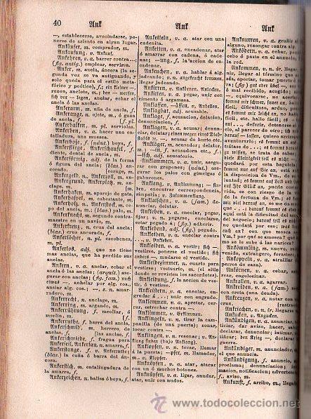 Diccionarios antiguos: NUEVO DICCIONARIO DE LAS LENGUAS ESPAÑOLAS Y ALEMANA POR FRANCESON - DOS TOMOS - Foto 9 - 25707174